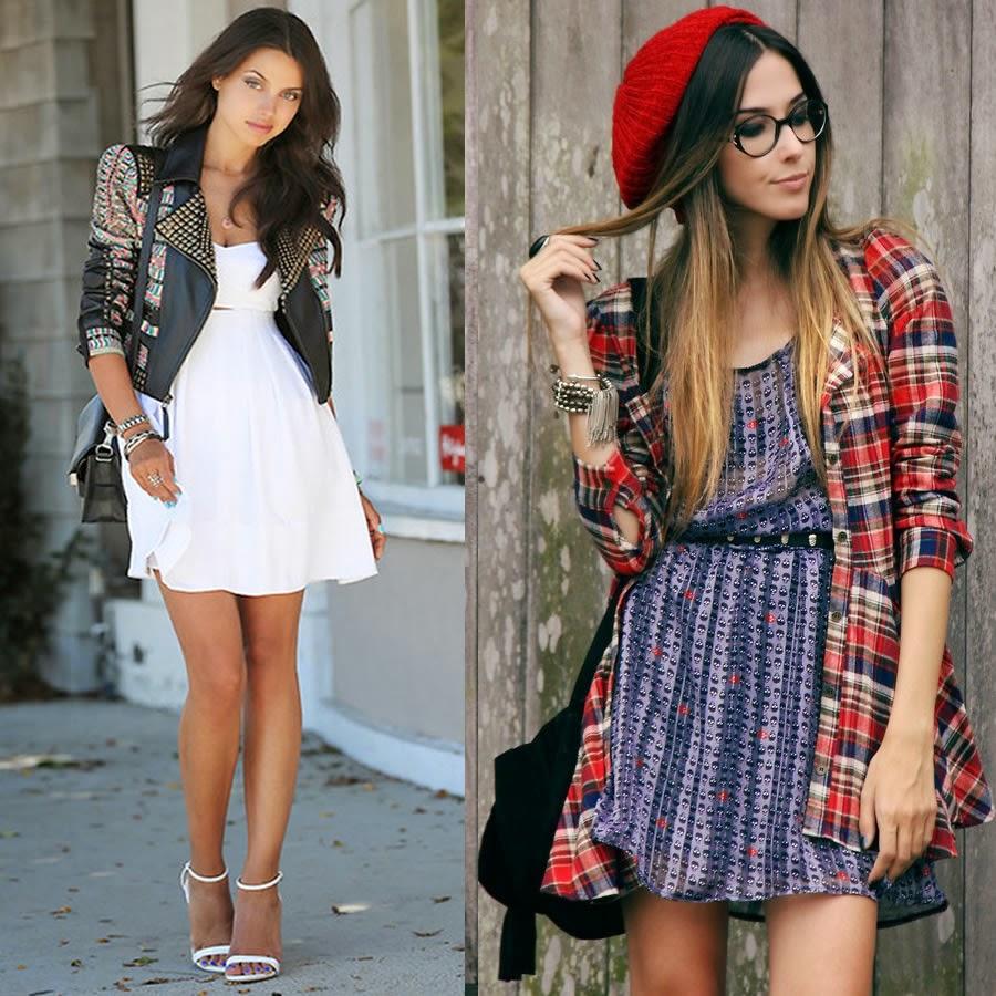 look.jaqueta.vestido