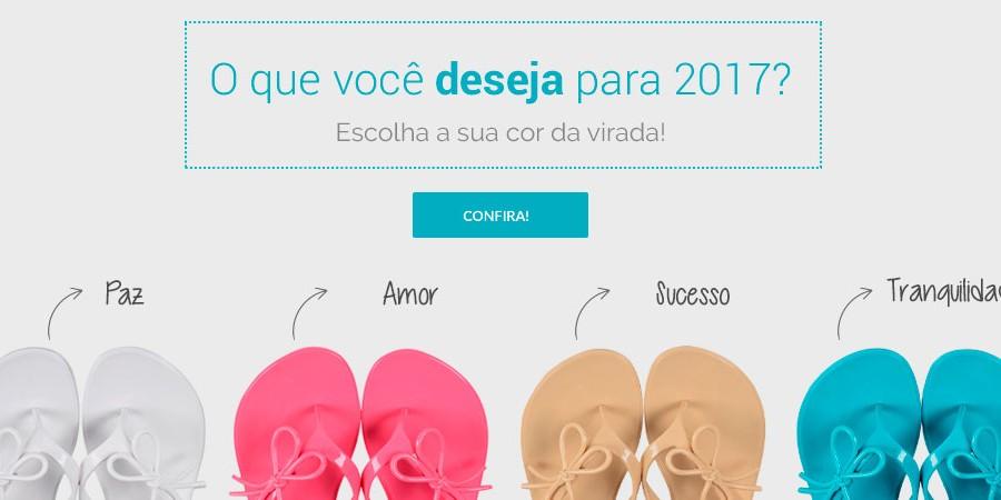 O que você deseja para 2017? Escolha seu calçado Happy Walk para a virada do ano
